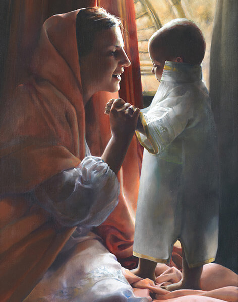 For This Child I Prayed - 11 x 14 giclée on canvas (pre-mounted) by Elspeth Young