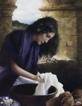 She Worketh Willingly With Her Hands - 14 x 18 giclée on canvas (pre-mounted)