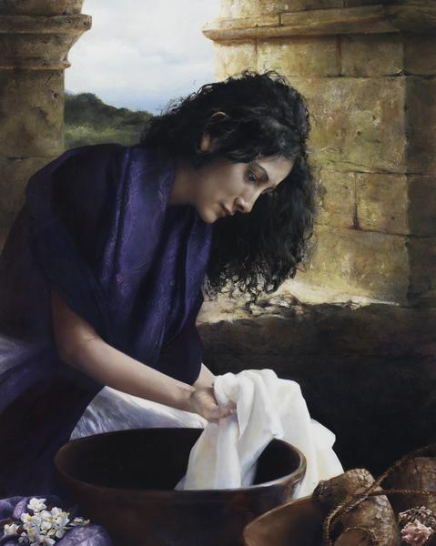 She Worketh Willingly With Her Hands - 16 x 20 giclée on canvas (pre-mounted) by Elspeth Young