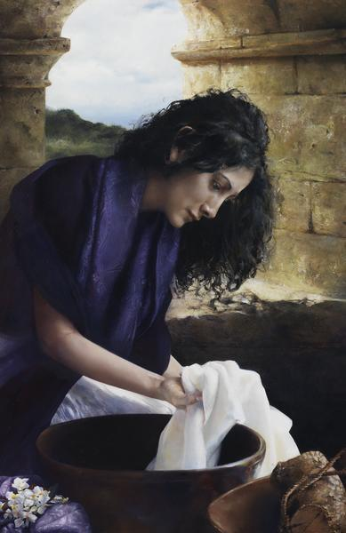 She Worketh Willingly With Her Hands - 11 x 17 giclée on canvas (pre-mounted) by Elspeth Young