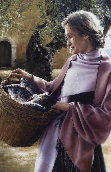 And Martha Served - 11 x 17 giclée on canvas (pre-mounted) by Elspeth Young
