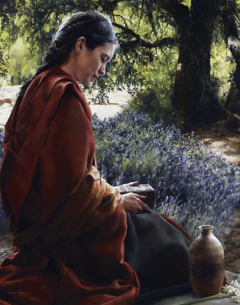 She Is Come Aforehand - 11 x 14 giclée on canvas (pre-mounted) by Elspeth Young
