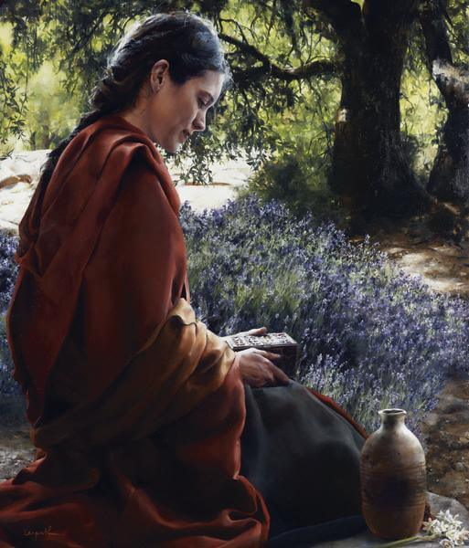 She Is Come Aforehand - 14 x 16.5 giclée on canvas (pre-mounted) by Elspeth Young