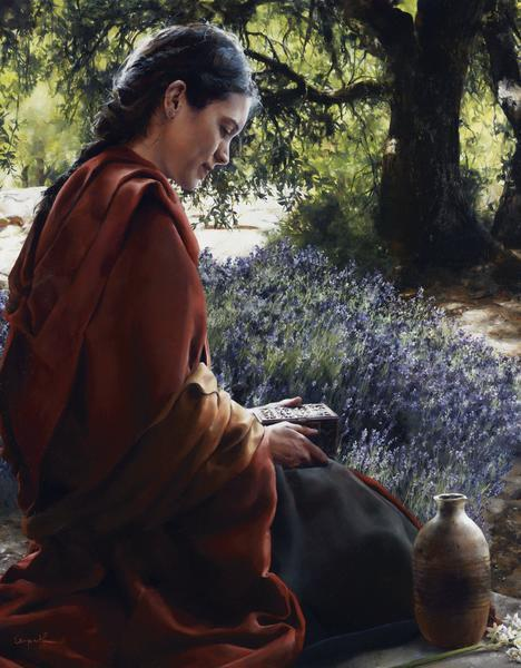 She Is Come Aforehand - 14 x 18 giclée on canvas (pre-mounted) by Elspeth Young