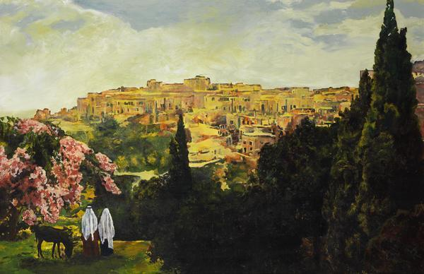 Unto The City Of David - 6 x 9.25 giclée on canvas (pre-mounted) by Ashton Young