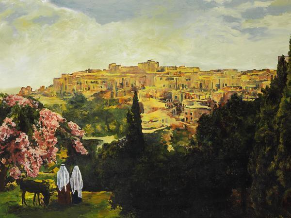 Unto The City Of David - 12 x 16 giclée on canvas (pre-mounted) by Ashton Young