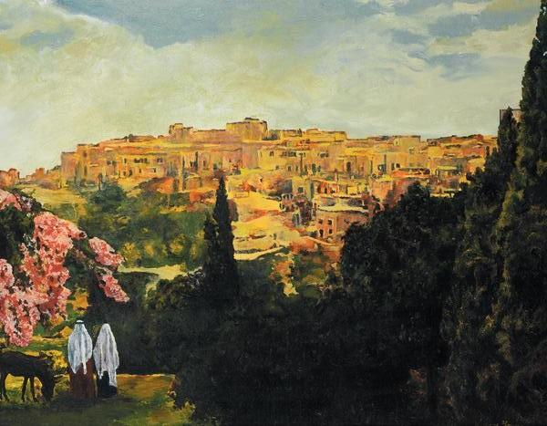 Unto The City Of David - 14 x 18 print by Ashton Young