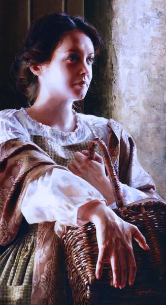 Angels Of Peace - 6 x 11 giclée on canvas (pre-mounted) by Elspeth Young