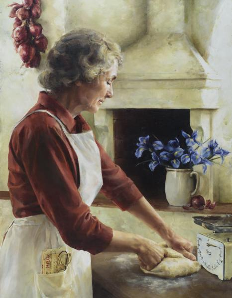 A Labor Of Love - 14 x 18 giclée on canvas (pre-mounted) by Elspeth Young