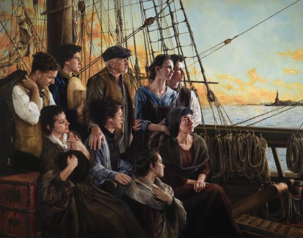 Sweet Land Of Liberty - 11 x 14 giclée on canvas (pre-mounted) by Elspeth Young