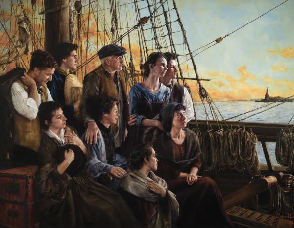 Sweet Land Of Liberty - 14 x 18 giclée on canvas (pre-mounted) by Elspeth Young