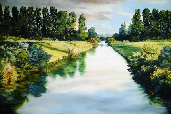 Peace Like A River - 6 x 9 giclée on canvas (pre-mounted) by Ashton Young