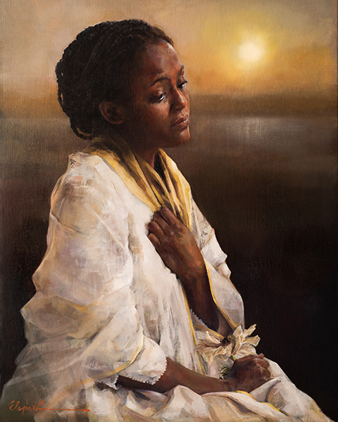The Blessings Afar Off - 8 x 10 giclée on canvas (pre-mounted) by Elspeth Young