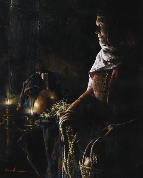 A Lamp Unto My Feet - 8 x 10 giclée on canvas (pre-mounted) by Elspeth Young