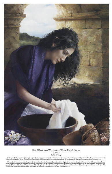 She Worketh Willingly With Her Hands - 11 x 17 print by Elspeth Young