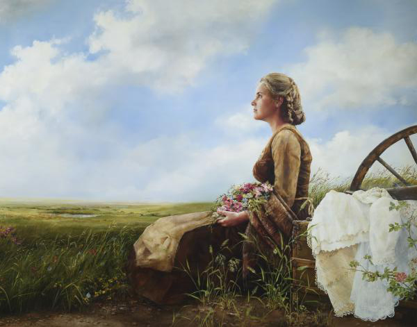 If God So Clothe The Field - 11 x 14 giclée on canvas (pre-mounted) by Elspeth Young