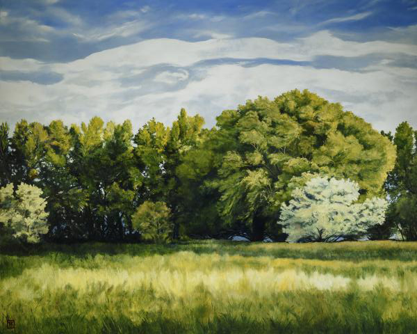 Green And Pleasant Land - 8 x 10 giclée on canvas (pre-mounted) by Ashton Young