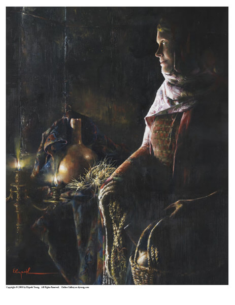 A Lamp Unto My Feet - 8 x 10 print by Elspeth Young