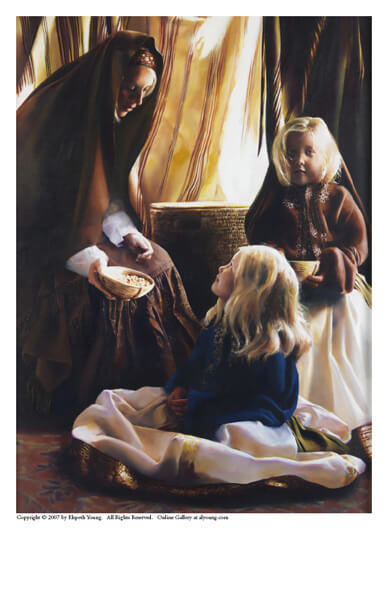 The Daughters Of Zelophehad - 5 x 7 print by Elspeth Young