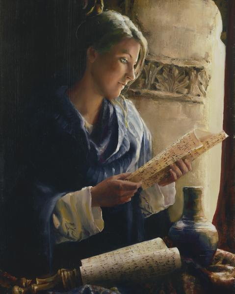 Treasure The Word - 8 x 10 giclée on canvas (pre-mounted) by Elspeth Young