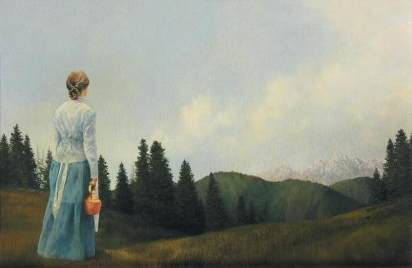 Mountain Home - 13 x 20 print by Al Young