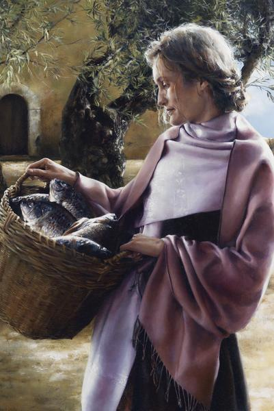 And Martha Served - 24 x 36 giclée on canvas (unmounted) by Elspeth Young