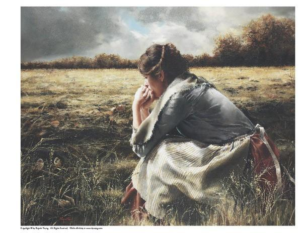 As A Sparrow Alone - 8 x 10 print by Elspeth Young