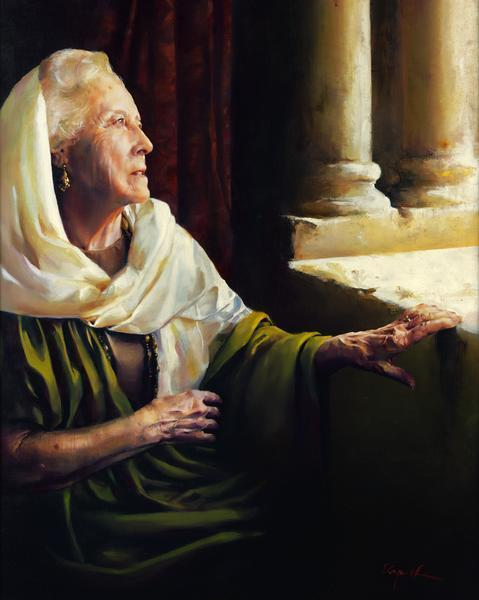 Blessed Is She That Believed - 16 x 20 giclée on canvas (pre-mounted) by Elspeth Young