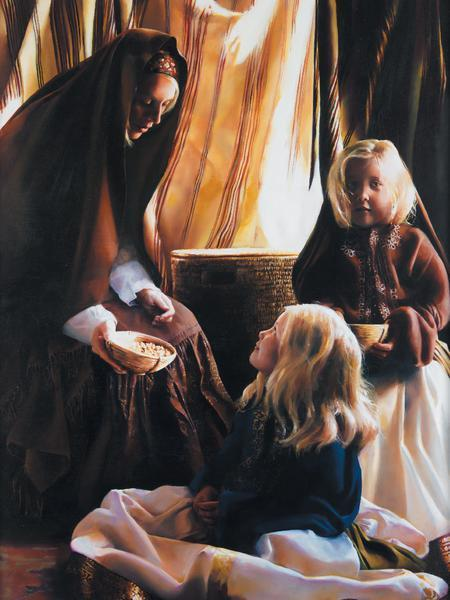 The Daughters Of Zelophehad - 12 x 16 print by Elspeth Young
