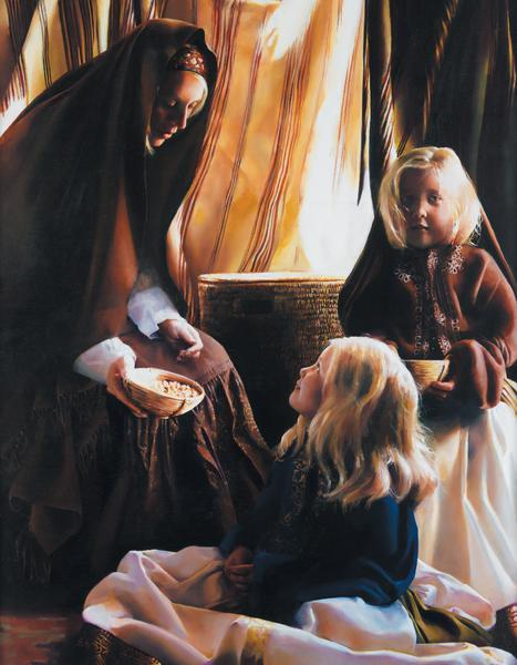The Daughters Of Zelophehad - 14 x 18 print by Elspeth Young