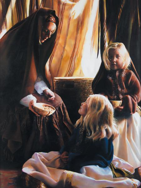 The Daughters Of Zelophehad - 18 x 24 print by Elspeth Young