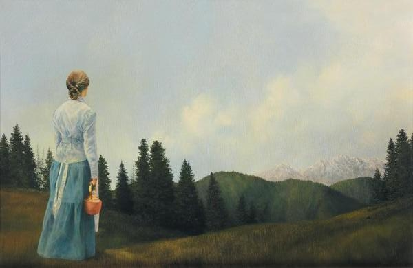 Mountain Home - 15.5 x 24 print by Al Young