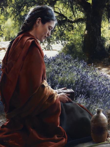 She Is Come Aforehand - 18 x 24 giclée on canvas (pre-mounted) by Elspeth Young