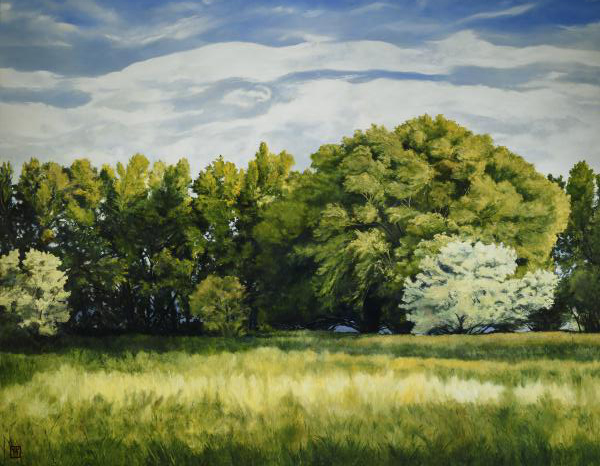 Green And Pleasant Land - 14 x 18 print by Ashton Young