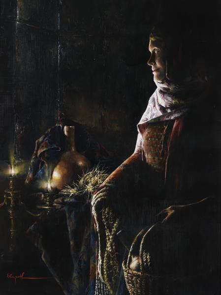 A Lamp Unto My Feet - 24 x 32 giclée on canvas (unmounted) by Elspeth Young