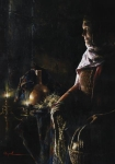 A Lamp Unto My Feet - 14 x 20 giclée on canvas (pre-mounted)
