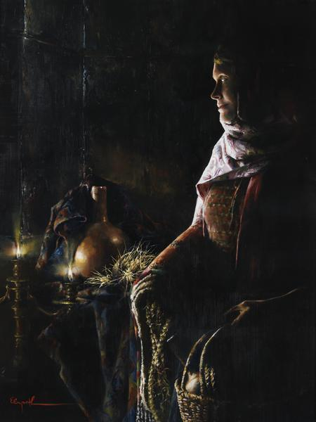 A Lamp Unto My Feet - 18 x 24 giclée on canvas (pre-mounted) by Elspeth Young