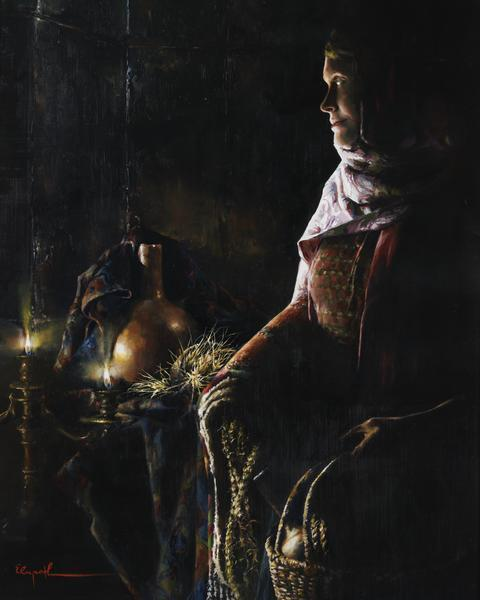 A Lamp Unto My Feet - 24 x 30 giclée on canvas (unmounted) by Elspeth Young