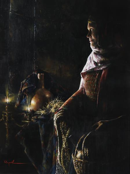 A Lamp Unto My Feet - 12 x 16 giclée on canvas (pre-mounted) by Elspeth Young