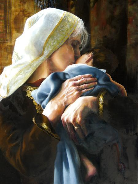 Is Anything Too Hard For The Lord - 18 x 24 giclée on canvas (pre-mounted) by Elspeth Young