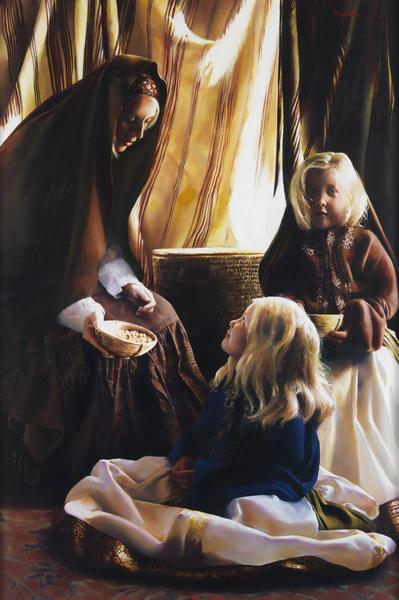 The Daughters Of Zelophehad - 24 x 36 giclée on canvas (unmounted) by Elspeth Young