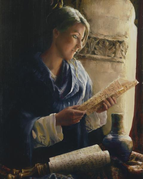 Treasure The Word - 16 x 20 giclée on canvas (pre-mounted) by Elspeth Young