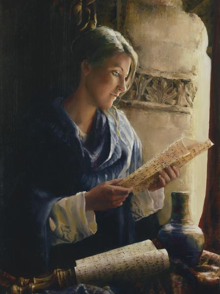 Treasure The Word - 12 x 16 giclée on canvas (pre-mounted) by Elspeth Young