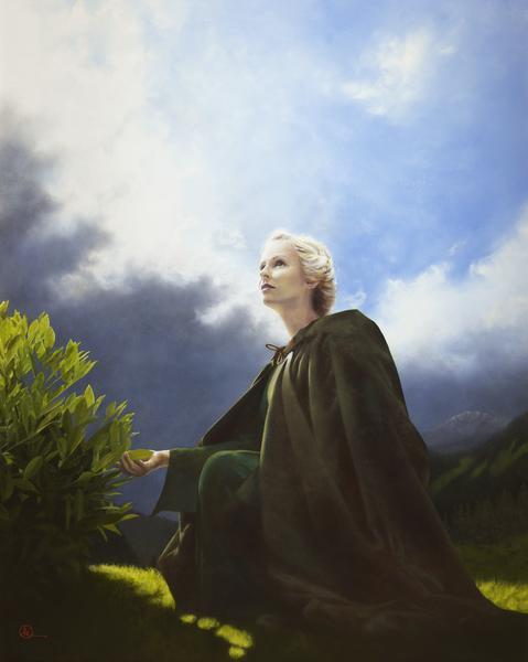 The Mother Of All Living - 16 x 20 giclée on canvas (pre-mounted) by Al Young