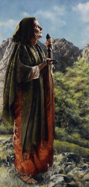 I Arose A Mother In Israel - 20 x 41.75 giclée on canvas (unmounted) by Elspeth Young