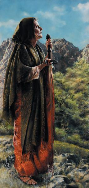 I Arose A Mother In Israel - 18 x 37.5 print by Elspeth Young