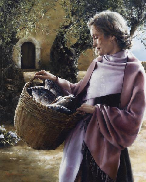 And Martha Served - 24 x 30 giclée on canvas (unmounted) by Elspeth Young