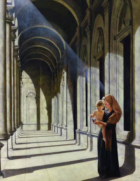 The Windows Of Heaven - 14 x 18 giclée on canvas (pre-mounted) by Al Young