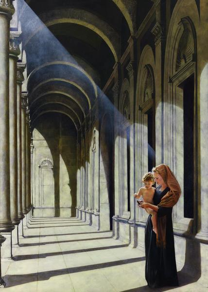 The Windows Of Heaven - 20 x 28 giclée on canvas (unmounted) by Al Young