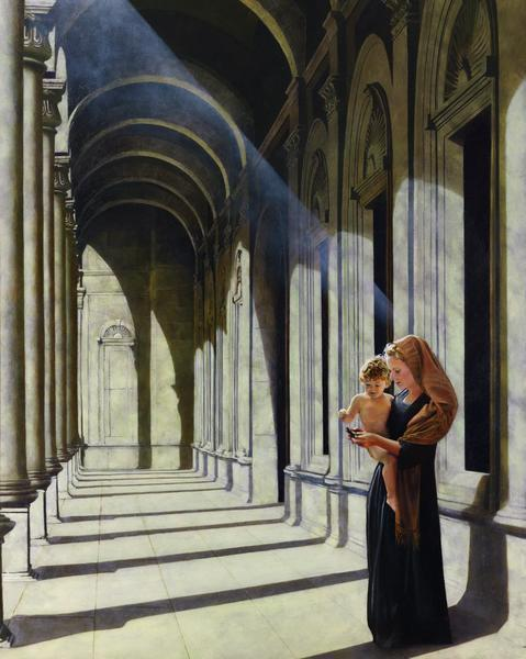 The Windows Of Heaven - 24 x 30 giclée on canvas (unmounted) by Al Young